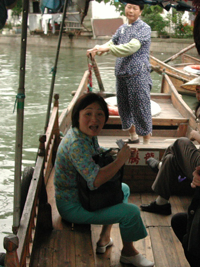 Chinese Shanty singer in Souzhou, China